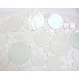 Palets de verre BLANC AURORE plaque