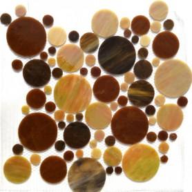 Palets de verre MARRON CUIR plaque
