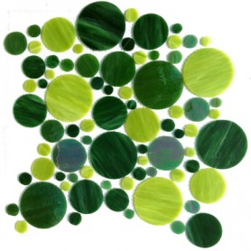 Palets de verre VERT GAZON la plaque