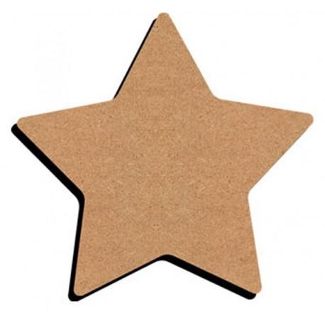 Support Bois en forme d'Étoile de Noël à 5 branches pour Mosaïque 26 cm