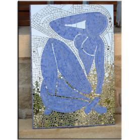 Nu bleu n°2 de Matisse en Emaux de Briare et miroir