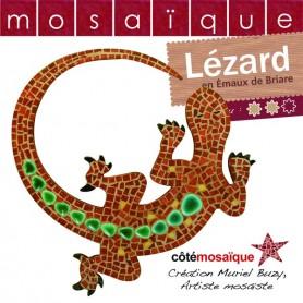 Fiche créative lézard en mosaïque avec tous les conseils de Muriel Buzy