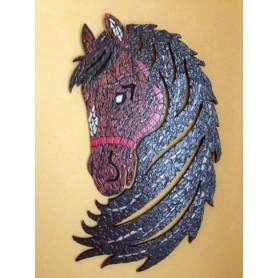 Tête de cheval en Emaux de Briare