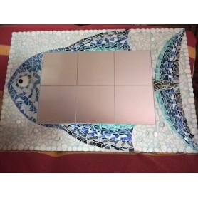 Exemple de mosaïque MIROIR RECTANGULAIRE décoré par Marie