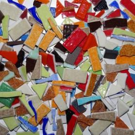Assortiment de chutes d'Emaux de Briare couleurs et formes variées 500 g