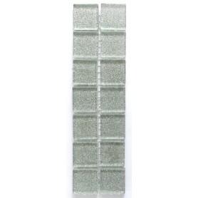 Pâtes de verre pailletées ARGENT BRILLANT 2 × 2 cm