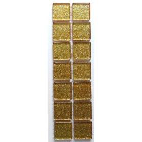 Pâtes de verre Pailletées OR BRILLANT 2 x 2 cm