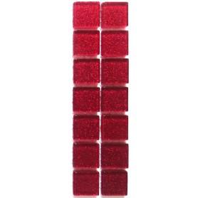 Pâtes de verre pailletées ROUGE RUBIS 2 × 2 cm