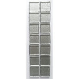 Pâtes de verre pailletées ARGENT LISSE 2 × 2 cm