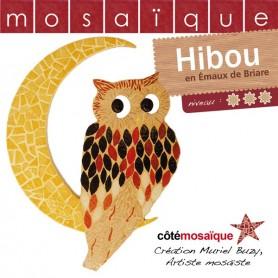 Fiche créative hibou en mosaïque avec tous les conseils de Muriel Buzy
