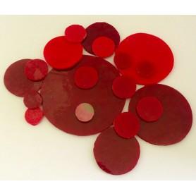 Palets de verre ROUGE INTENSE par 100 g