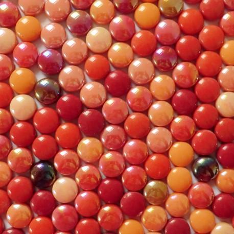 Mini-cabochons COCKTAIL COQUELICOT vendus par 100 g ou 300 g