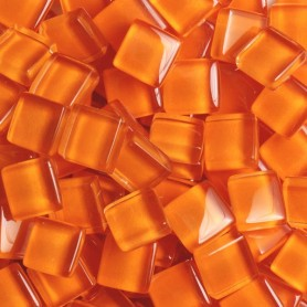 Pâtes de verre translucides Potiron orange