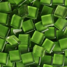 Pâtes de verre translucides Diabolo menthe vert 10x10 mm