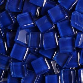 Pâtes de verre translucides Outremer bleu foncé 10x10 mm