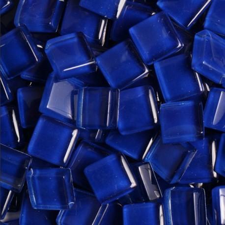 Pâtes de verre translucides Outremer bleu foncé 1 × 1 cm