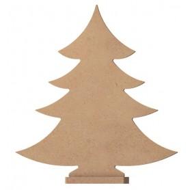 Support bois SAPIN avec pied à décorer