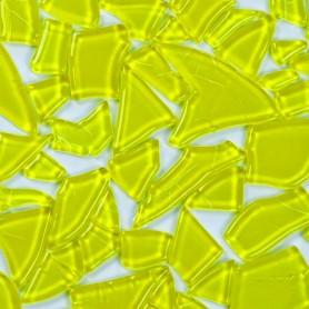Pâtes de verre translucides givrées de forme aléatoire Pamplemousse jaune