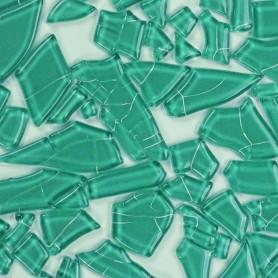 Pâtes de verre translucides givrées de forme aléatoire Lagune vert