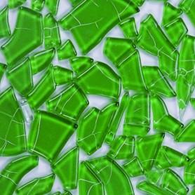 Pâtes de verre translucides givrées de forme aléatoire Diabolo menthe vert
