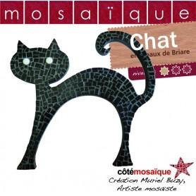 Fiche créative chat noir en mosaïque avec tous les conseils de Muriel Buzy