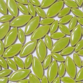 Céramiques Pétales BAMBOU vert anis