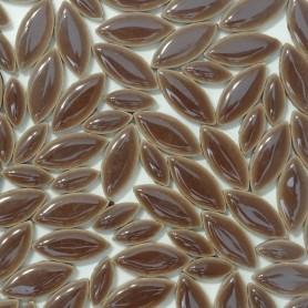 Céramiques Pétales CACAO brun foncé