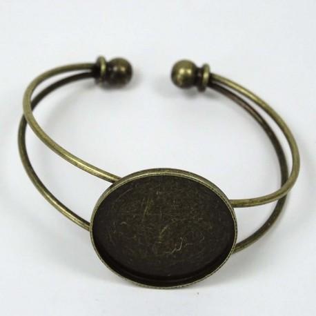 Bracelet manchette Petit Rond bronze