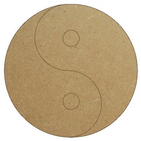 Support Bois en forme de Yin Yang pour Mosaïque 26 cm