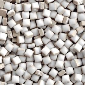 Micro-porcelaine 5 × 5 mm couleur SEL blanc pour mosaïque