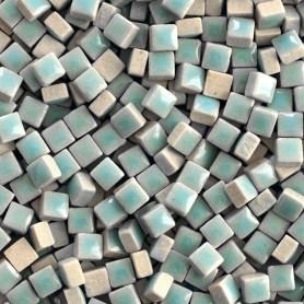 Micro-porcelaine 5 × 5 mm couleur BRUME bleu clair pour mosaïque