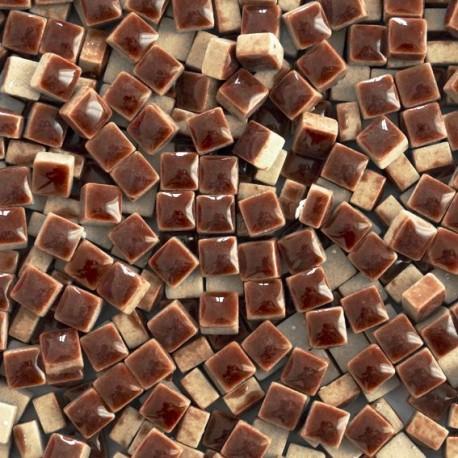 Micro-porcelaine 5 × 5 mm couleur CHOCOLAT marron pour mosaïque
