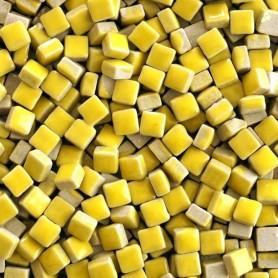 Micro-porcelaine 5 × 5 mm couleur CITRON jaune vif pour mosaïque