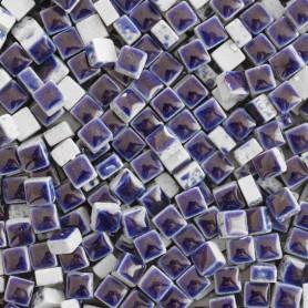 Micro-porcelaine 5 × 5 mm couleur MARINE bleu foncé pour mosaïque