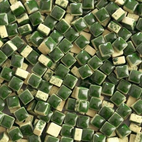 Micro-porcelaine 5 × 5 mm couleur MOUSSE vert foncé pour mosaïque