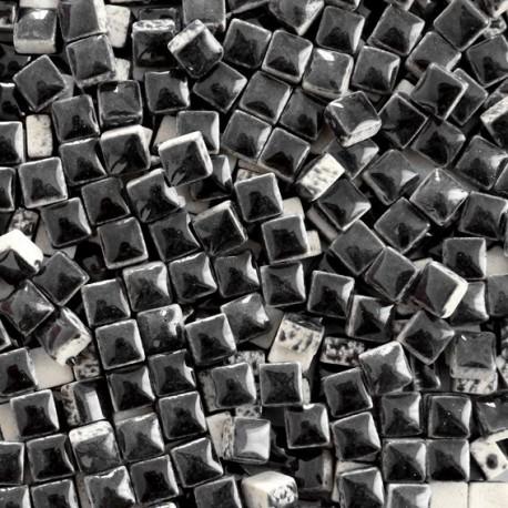 Micro-porcelaine 5 × 5 mm couleur POIVRE noir pour mosaïque