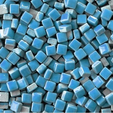 Micro-porcelaine 5 × 5 mm couleur TURQUOISE bleu pour mosaïque