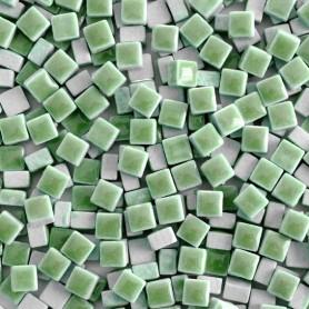 Micro-porcelaine 5 × 5 mm couleur LOTUS vert clair pour mosaïque