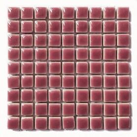 Mini-porcelaine 1 × 1 cm couleur GLYCINE rose tendre pour mosaïque vendue à la plaque