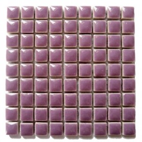 Mini-porcelaine 1 × 1 cm couleur LILAS violet pour mosaïque vendue à la plaque