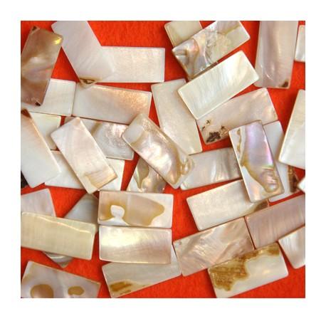 Nacre naturelle forme DOMINO pour mosaïque vendue par 100 g