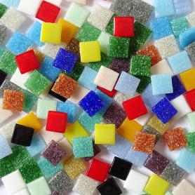 Pâte de verre unie Multicolore 10x10