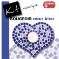Bougeoir COEUR BLEU