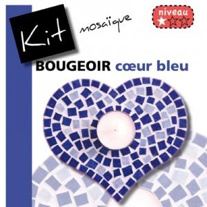 Bougeoir COEUR BLEU