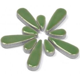 Céramiques Gouttes d'eau LOTUS vert tendre