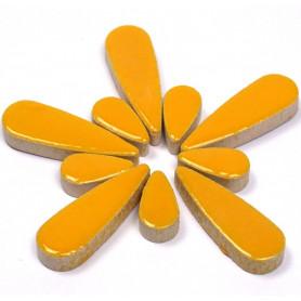 Céramiques Gouttes d'eau SAFRAN jaune doré