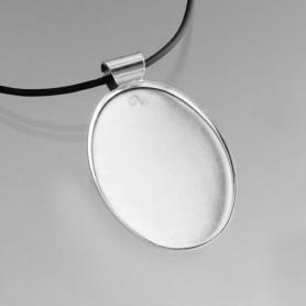 Support ovale métallique pour collier
