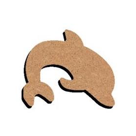 Mini support Bois forme de Dauphin pour Mosaïque 14 cm