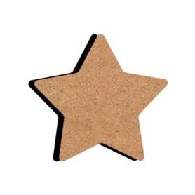 Mini support Bois forme d'Étoile de Noël à 5 branches pour Mosaïque 10 cm