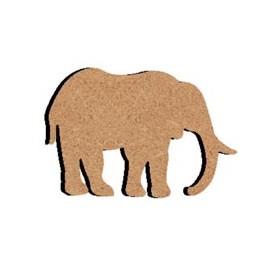 Mini support Bois forme de Éléphant pour Mosaïque 14 cm